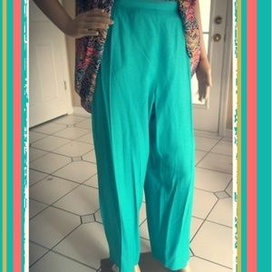 Teal Trouser Pants